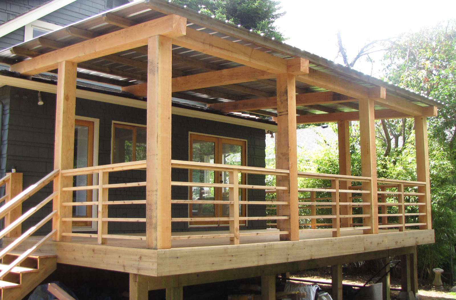 Deck building deck building images for Ideas for decks designs